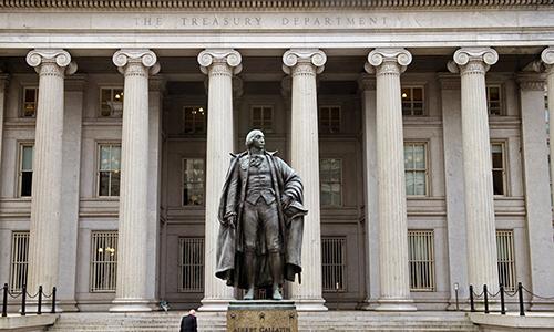 Trụ sở Bộ Tài chính Mỹ tại thủ đô Washington, D.C. Ảnh: AFP.