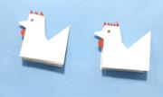 Tạo chú gà giấy đơn giản theo nghệ thuật Origami