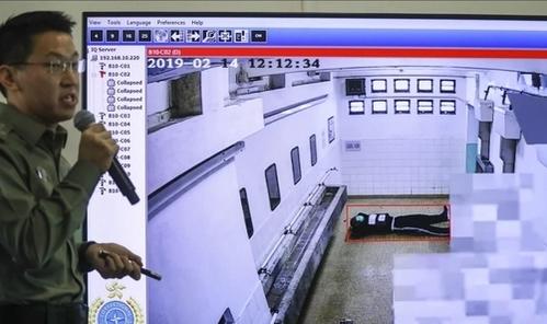 Camera thông minh có thể phát hiện phạm nhân ngất xỉu hoặc ẩu đả. Ảnh: SCMP.