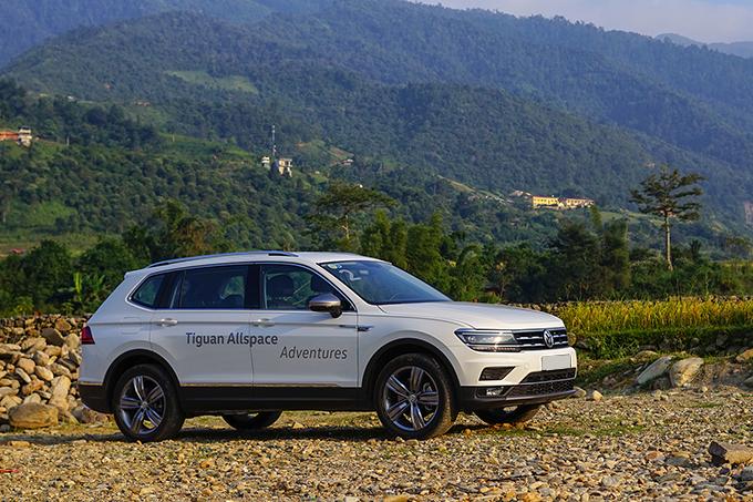Volkswagen Tiguan Allspace 4Motion nhập khẩu Mexico. Ảnh: Lương Dũng.