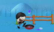 Hiệu ứng làm giọt nước bị bắn lên trong chảo nóng