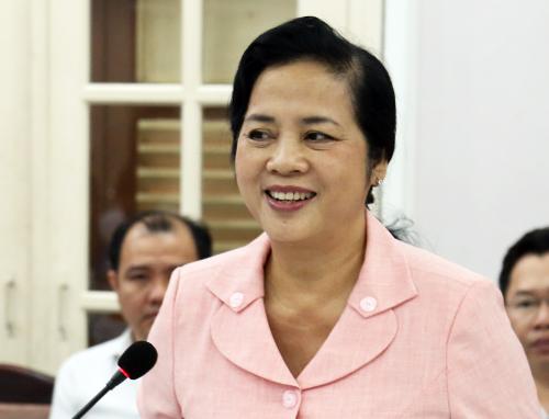 Bà Trần Kim Yến, Bí thư Quận ủy quận 1. Ảnh: Hữu Công