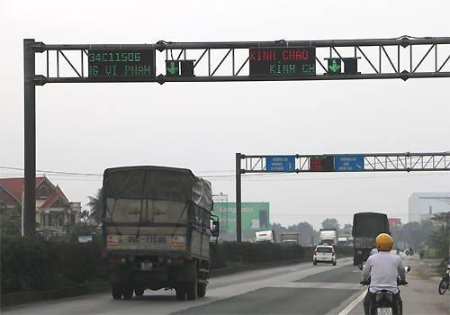 Cân tải trọng xe hiện đại nhất Việt Nam đặt trên quốc lộ 5 - ảnh 2