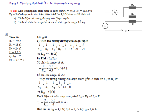 Bí quyết đạt điểm cao các dạng bài tập vận dụng định luật Ôm trong Vật lí 9 (xin edit) - 2