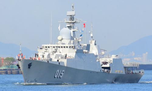 Tàu hộ vệ tên lửa 015 Trần Hưng Đạo được Nga chế tạo cho Việt Nam. Ảnh: Twitter.
