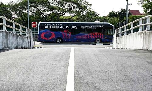 Volvo và NTU hợp tác phát triển xe buýt điện tự không người lái. Ảnh: Phys.