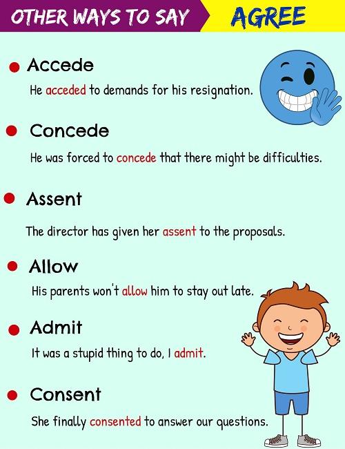 Những động từ thay thế agree - ảnh 1