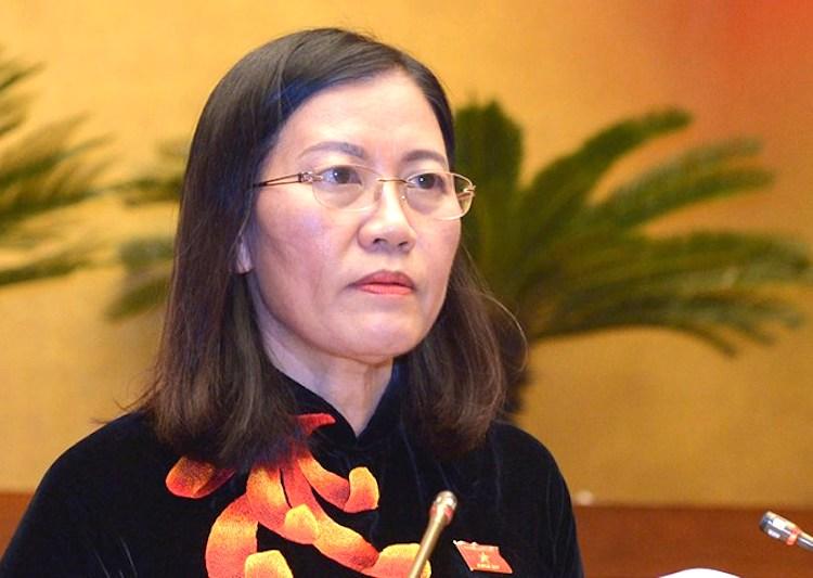 Chủ nhiệm Uỷ ban Tư pháp Lê Thị Nga. Ảnh: Trung tâm báo chí QH