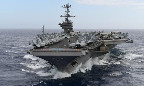 Mỹ loại biên sớm siêu tàu sân bay để đối phó Trung Quốc - ảnh 1