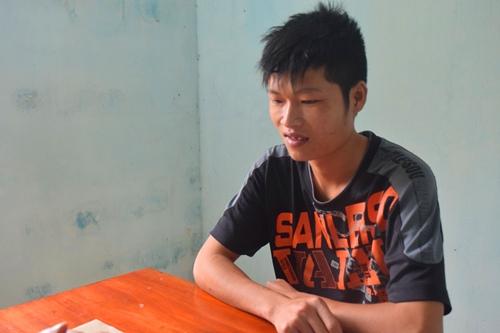 Trương Thống tại cơ quan điều tra. Ảnh: Bình Nguyên