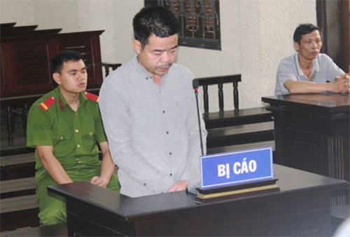 Nguyễn Đình Tuyến bị TAND tỉnh Hải Dương tuyên phạt 15 năm tù. Ảnh: Giang Chinh