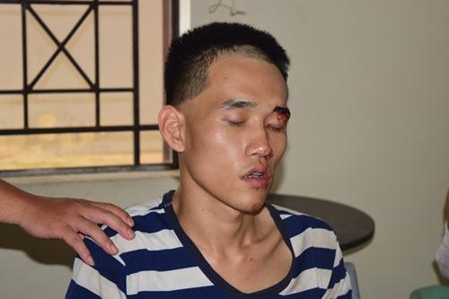 Lê Viết Thịnh khi bị bắt giữ. Ảnh: Mạnh Hùng
