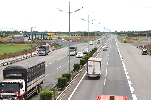 Cao tốc TP HCM - Trung Lương sẽ kết nối với cao tốc Trung Lương - Mỹ Thuận. Ảnh:Xuân Hoa.
