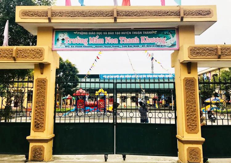 Trường Mầm non Thanh Khương, xã Thanh Khương (Thuận Thành, Bắc Ninh). Ảnh: Dương Tâm