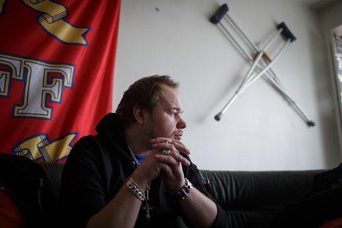 Thomas Salmi từng sống lang thang nhiều năm trên đường phố Helsinki. Ảnh: Huffington Post.