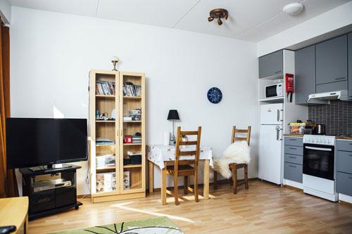 Bên trongmột căn hộ ở khu nhà ở xã hội Vainola. Ảnh: Huffington Post.