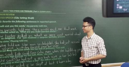 Thầy Nguyên chọn lựa dạy trực tuyến để mang tiếng Anh đến gần hơn với đông đảo học sinh.
