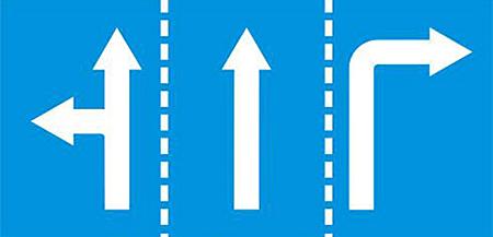 Biển R411 - Hướng dẫn đi trên mỗi làn đường.