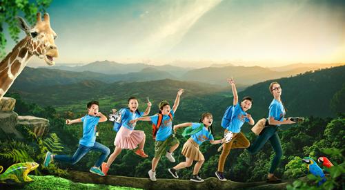 Các bé sẽ có nhiều hoạt động bổ ích cùng bạn bè và thầy cô nước ngoài.