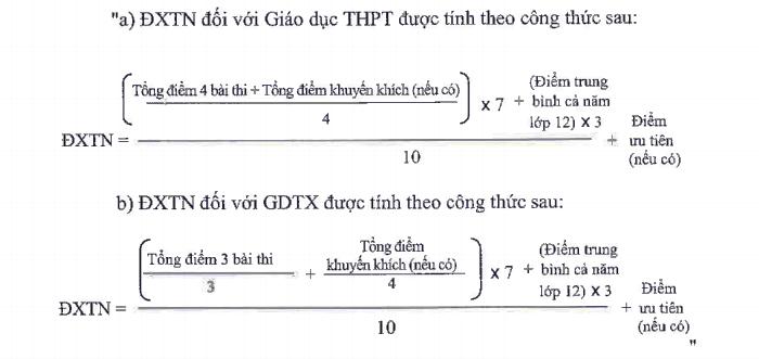 Điểm thi THPT quốc gia quyết định phần lớn điểm tốt nghiệp