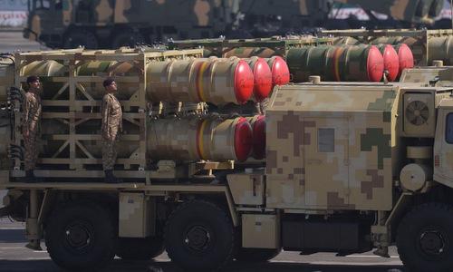 Tổ hợp LY-80 trong cuộc duyệt binh của Pakistan năm 2017. Ảnh: Twitter.