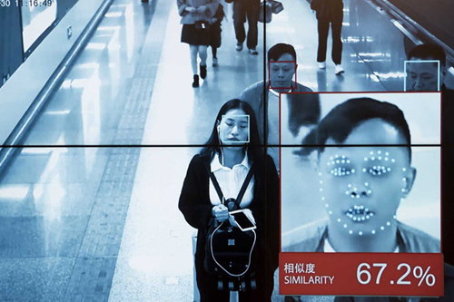 Công nghệ nhận diện khuôn mặt áp dụng rộng rãi khắp Trung Quốc. Ảnh: SCMP.