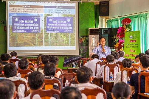 Tiến sĩ Phạm Công Trí, đại diện WASI trình bày kết quả khảo nghiệm giải pháp Drip Protection.