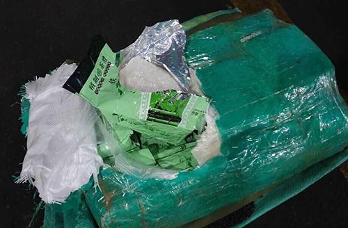 Ma tuý trong container từ TP HCM đi Philippines. Ảnh: Công an cung cấp.
