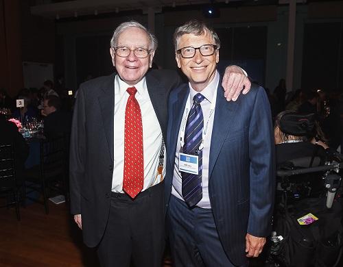 Warren Buffett và Bill Gates đều áp dụng quy tắc năm giờ. Ảnh: Time Magazine
