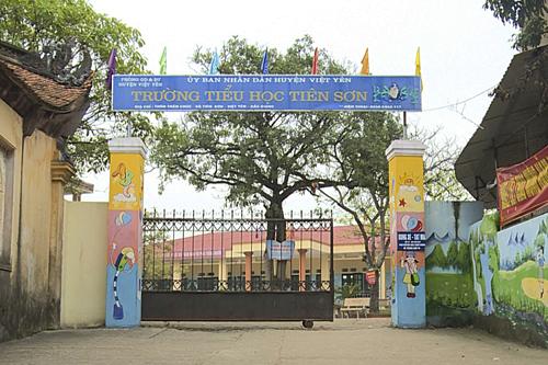 Trường Tiểu học Tiên Sơn, nơi xảy ra sự việc thầy giáo sờ mông và đùi học sinh. Ảnh: Huy Mạnh