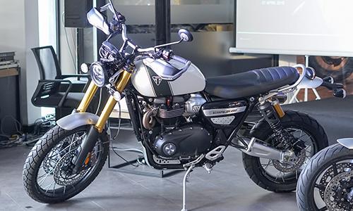 Triumph Scrambler 1200 môtô phong cách cào cào. Ảnh:Lương Dũng.