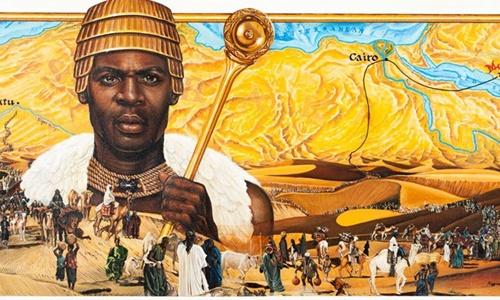 Phác họa chân dung hoàng đế Mali thế kỷ XIV Mansa Musa. Ảnh: African Globe.