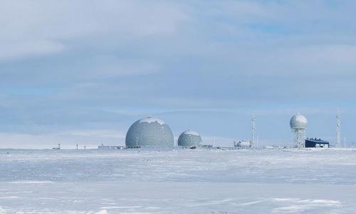 Căn cứ radar trên quần đảo Kotelny. Ảnh: AP.