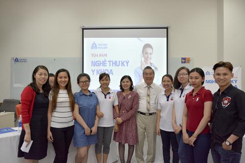 Buổi tọa đàm về nghề thư ký y khoa tại Đại học Hoa Sen.