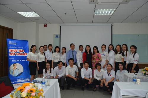 Buổi thực tập tốt nghiệp ngành Thư ký y khoa tại Đại học Hoa Sen.