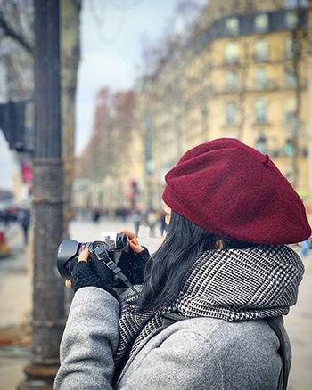 Tuyết Mai trong thời gian ở Paris. Ảnh: NVCC