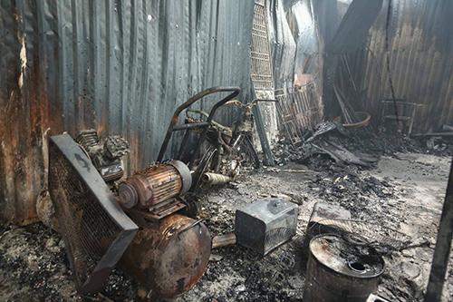 Hiện trường vụ cháy làm 8 người chết ở Trung Văn (Nam Từ Liêm, Hà Nội). Ảnh: Gia Chính