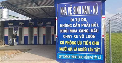 Thông báo 'đi vệ sinh tự do' tại trạm xăng ở An Giang gây sốt