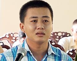 Nguyễn Minh Thanh tại phiên toà. Ảnh: Tiến Tầm