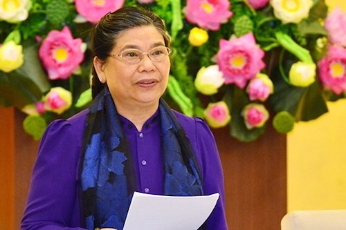 Phó chủ tịch Quốc hội Tòng Thị Phóng. Ảnh: Trung tâm báo chí QH