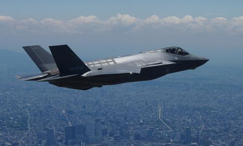 Chiếc F-35A số đuôi 79-8705 bay huấn luyện năm 2018. Ảnh: JASDF.