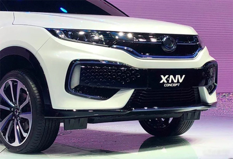 X-NV có những điểm nhấn màu xanh lam - đặc trưng của dòng xe điện. Ảnh: PC Auto