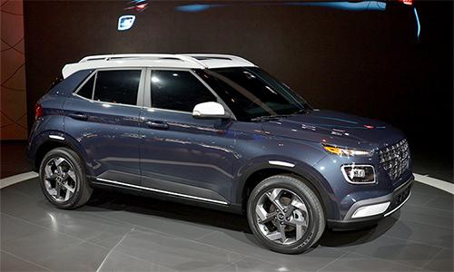 Hyundai Venue 2020 ra mắt toàn cầu tại triển lãm ôtô New York, Mỹ.