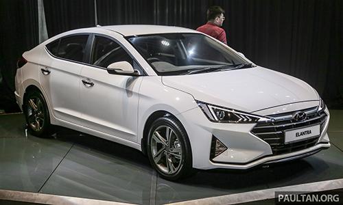 Hyundai Elantra 2019 - bản nâng cấp ra mắt tại Malaysia. Ảnh:Paultan.