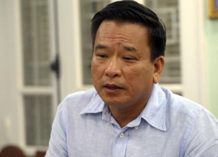 Ông Võ Tiến Hùng, Chủ tịch- Tổng giám đốc Công ty TNHH MTV Thoát nước Hà Nội. Ảnh: Bá Đô
