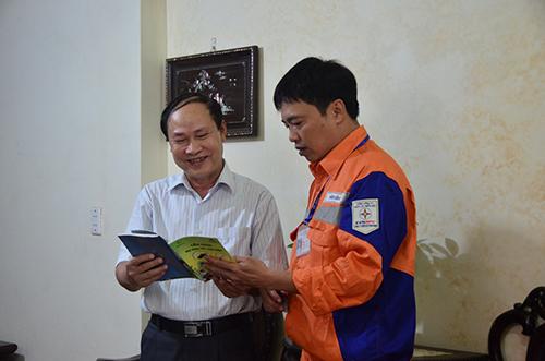 Ông Phạm Văn Tiến (Đò Quan.TP Nam Định) đánh giá rất cao sự tuyên truyền của ngành Điện,