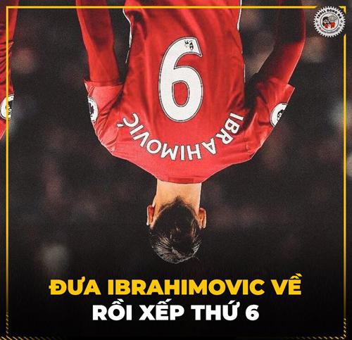 ... Ibrahimovic cũng đến nhưng vị trí vẫn không thay đổi.