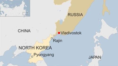 Vị trí thành phố Vladivostok. Đồ họa: BBC.