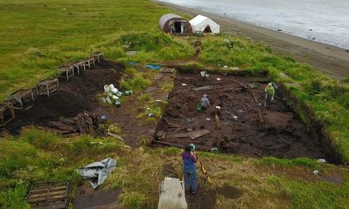 Nơi các nhà khảo cổ khai quật 28 bộ hài cốt. Ảnh: Live Science.