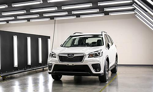 Subaru Forester thế hệ thứ 5 tại nhà máy ở Thái Lan. Ảnh: Paultan
